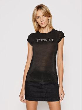 Patrizia Pepe Patrizia Pepe Tricou 2M4063/A9A1-K103 Negru Slim Fit