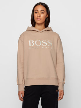 Boss Boss Džemperis C_Edelight_Active 50457385 Smėlio Relaxed Fit