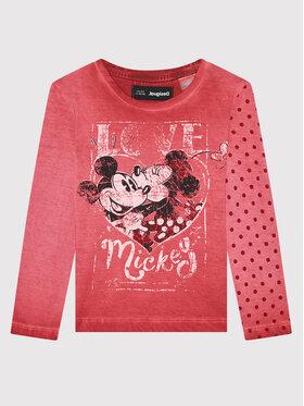 Desigual Desigual Блуза DISNEY Love Mickey 21WGTK15 Розов Regular Fit