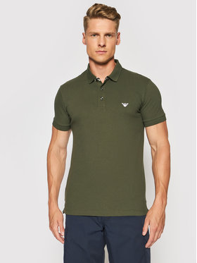 Emporio Armani Emporio Armani Тениска с яка и копчета 211804 1P461 00284 Зелен Regular Fit