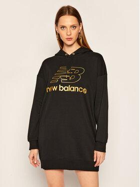 New Balance New Balance Плетена рокля Athletics Village WD03501 Черен Regular Fit