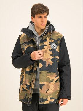 DC Snowboardová bunda Defy EDYTJ03089 Zelená Regular Fit