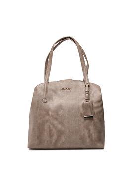 Calvin Klein Calvin Klein Дамска чанта Ck Must Shoulder Bag Md Lizard K60K608624 Сив