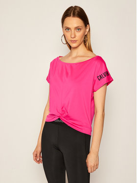 Calvin Klein Performance Calvin Klein Performance T-Shirt 00GWT0K107 Różowy Regular Fit