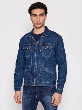 Wrangler Wrangler Jeansová bunda The Hollywood W456SF42P Tmavomodrá Regular Fit