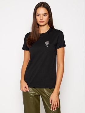 KARL LAGERFELD KARL LAGERFELD T-Shirt Ikonik Mini 206W1713 Černá Regular Fit