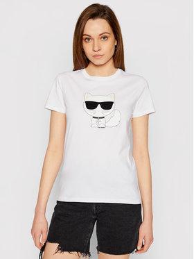KARL LAGERFELD KARL LAGERFELD T-shirt Ikonik Choupette 210W1723 Blanc Regular Fit