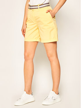 TOMMY HILFIGER TOMMY HILFIGER Bavlnené šortky Bermuca WW0WW27634 Žltá Regular Fit