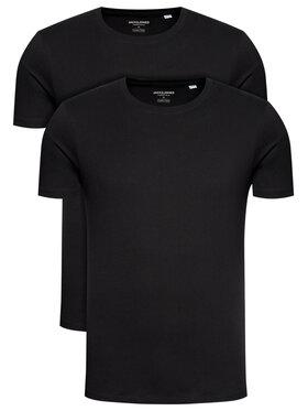 Jack&Jones Jack&Jones 2-dielna súprava tričiek Basic Crew Neck 12133913 Čierna Regular Fit