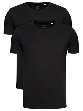 Jack&Jones Jack&Jones 2er-Set T-Shirts Basic Crew Neck 12133913 Schwarz Regular Fit