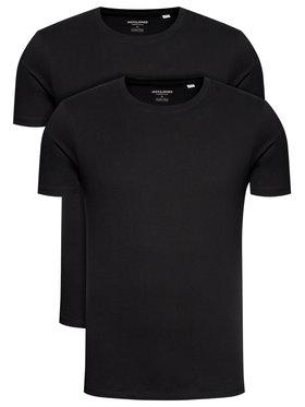 Jack&Jones Jack&Jones Komplet 2 t-shirtów Basic Crew Neck 12133913 Czarny Regular Fit