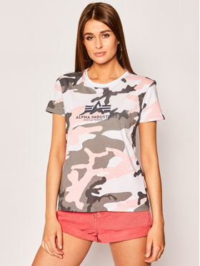 Alpha Industries Alpha Industries T-Shirt New Camo Basic 196052 Šedá Regular Fit