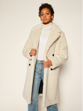 Tommy Hilfiger Tommy Hilfiger Báránybőr kabát Teddy WW0WW29339 Bézs Regular Fit