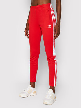 adidas adidas Долнище анцуг Primeblue Sst Track H34579 Червен Slim Fit