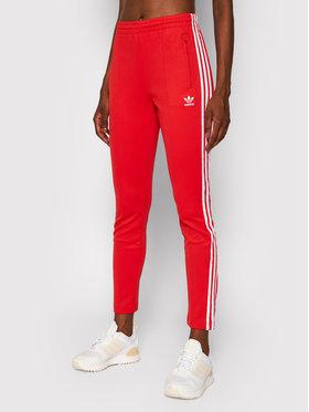 adidas adidas Spodnie dresowe Primeblue Sst Track H34579 Czerwony Slim Fit