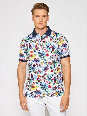 Polo Ralph Lauren Polo Ralph Lauren Тениска с яка и копчета 710835228001 Бял Custom Slim Fit