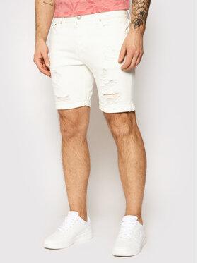 Jack&Jones Jack&Jones Pantaloni scurți de blugi Rick 12180163 Alb Regular Fit