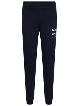 Tommy Sport Tommy Sport Teplákové nohavice Graphic S10S100699 Tmavomodrá Slim Fit