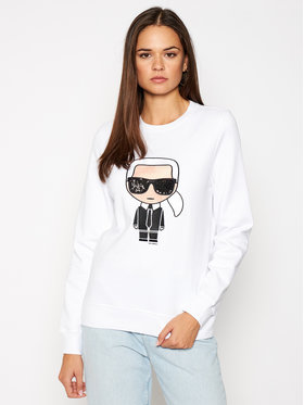 KARL LAGERFELD KARL LAGERFELD Sweatshirt Ikonik 205W1801 Blanc Regular Fit