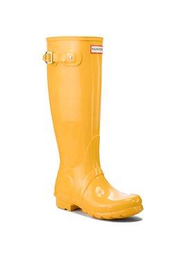 Hunter Hunter Γαλότσες Org Tall Gloss WFT1000RGL Κίτρινο