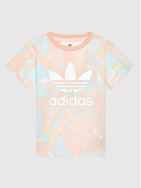 adidas adidas T-Shirt Allover Print Marble H22636 Kolorowy Regular Fit