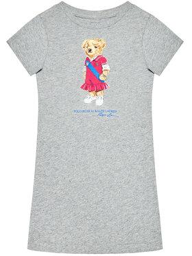 Polo Ralph Lauren Polo Ralph Lauren Sukienka codzienna Bear 313837200002 Szary Regular Fit