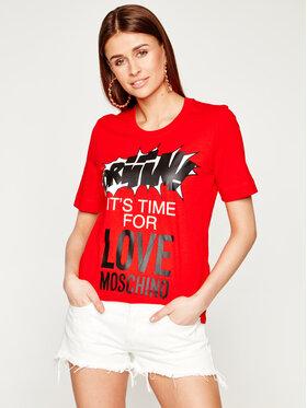 LOVE MOSCHINO LOVE MOSCHINO T-Shirt W4F152EM 3876 Červená Regular Fit