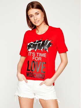 LOVE MOSCHINO LOVE MOSCHINO Tricou W4F152EM 3876 Roșu Regular Fit