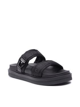 Calvin Klein Jeans Calvin Klein Jeans Klapki Flat Sandal Twostraps Pes YM0YM00008 Czarny