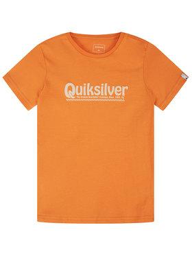 Quiksilver Quiksilver T-Shirt New Slang EQBZT04143 Orange Regular Fit