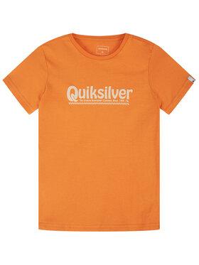 Quiksilver Quiksilver T-Shirt New Slang EQBZT04143 Oranžová Regular Fit
