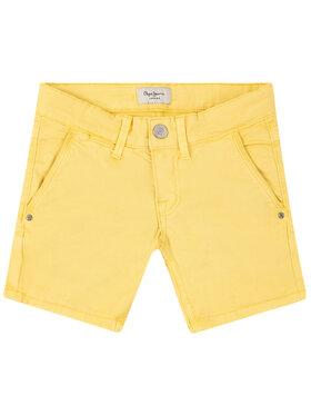 Pepe Jeans Pepe Jeans Šortky z materiálu Blueburn PB800295 Žlutá Regular Fit