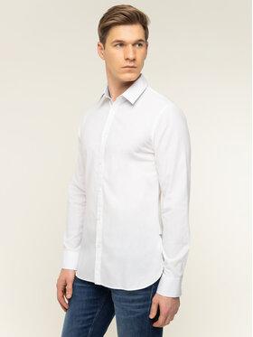 Guess Guess Košile M92H20 WBGH0 Bílá Slim Fit