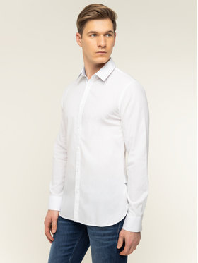 Guess Guess Marškiniai M92H20 WBGH0 Balta Slim Fit