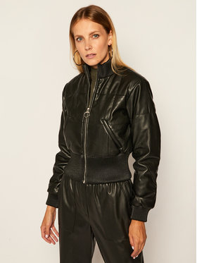 Guess Guess Giacca di pelle Trinity Bomber W0BL68 WDAO0 Nero Regular Fit