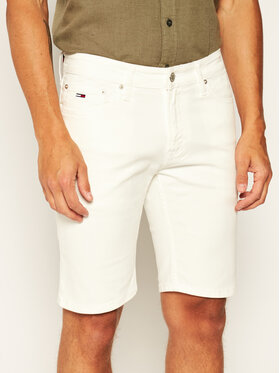 Tommy Jeans Tommy Jeans Džinsiniai šortai Scanton DM0DM07960 Balta Regular Fit