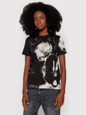 Desigual Desigual T-Shirt DISNEY Mickey 21WWTKB3 Černá Regular Fit