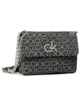 Calvin Klein Calvin Klein Дамска чанта Re-Lock J Conv Crossboy Md K60K6067820 Зелен