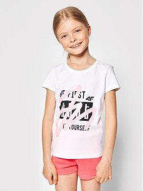 4F 4F T-Shirt JTSD004 Bílá Regular Fit