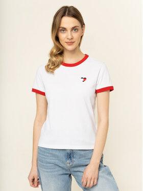 Tommy Jeans Tommy Jeans T-Shirt Ringer Heart DW0DW07571 Bílá Regular Fit