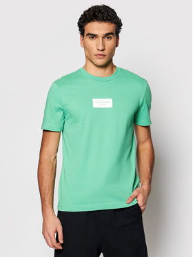 Calvin Klein Calvin Klein Tricou Chest Box Logo K10K106484 Verde Regular Fit