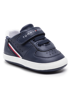 Tommy Hilfiger Tommy Hilfiger Sneakersy Lace Up Velcro Shoe T0B4-31063-1180 Granatowy
