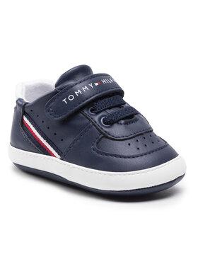 Tommy Hilfiger Tommy Hilfiger Sneakersy Lace Up Velcro Shoe T0B4-31063-1180 Tmavomodrá