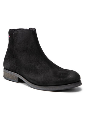 Tommy Jeans Tommy Jeans Ботуши Classic Suede Chelsea Boot EM0EM00835 Черен
