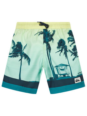 Quiksilver Quiksilver Pantaloni scurți pentru înot Paradise 15 EQBJV03281 Verde Regular Fit