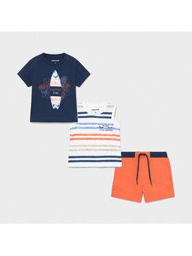 Mayoral Mayoral Set tricou, top și pantaloni scurți 1672 Colorat Regular Fit