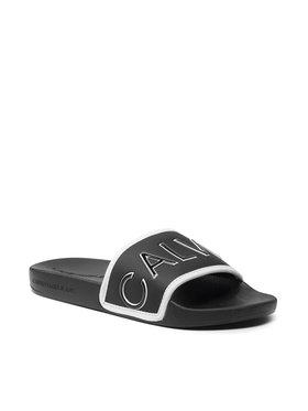 Calvin Klein Jeans Calvin Klein Jeans Nazouváky Slide Padded Ck Pes-Pu YW0YW00131 Černá