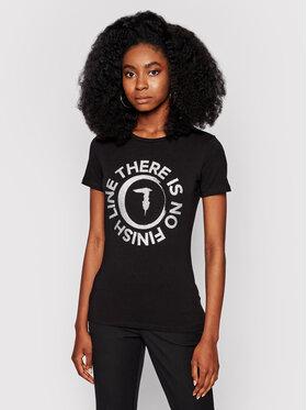 Trussardi Trussardi T-Shirt 56T00382 Czarny Slim Fit