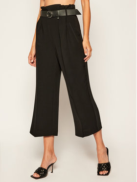 Guess Guess Stoffhose Sarah W0YB78 W96R0 Schwarz Relaxed Fit