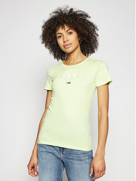 Tommy Jeans Tommy Jeans T-shirt Essential DW0DW09926 Vert Skinny Fit